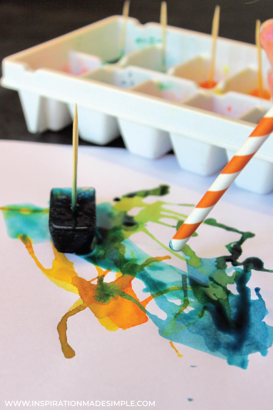 Blow Painting using Straws