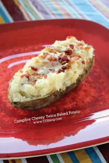 Campfire Cheesy Twice Baked Potato