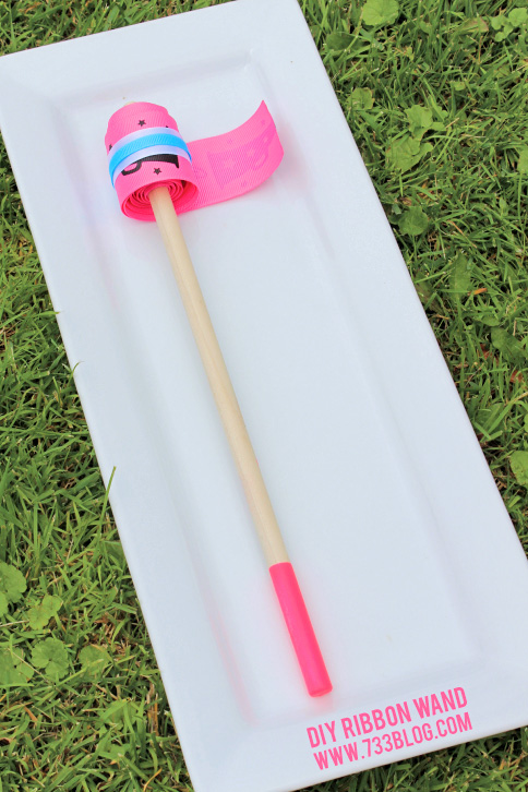 DIY Gymnast Ribbon Wand