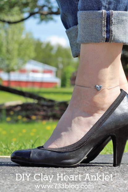 DIY Heart Anklet