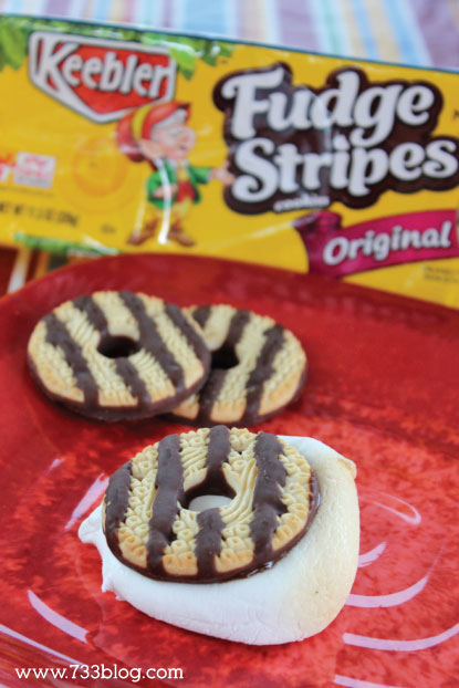 Fudge Stripes Cookie S'mores