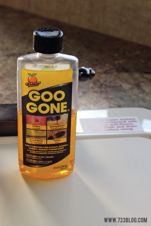 Goo Gone Sticker Removal