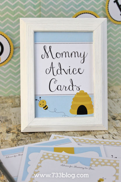 ... Mommy To Bee Advice Cards