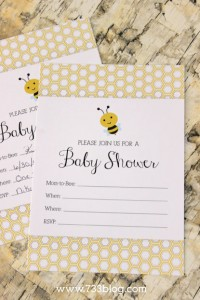 Mommy to Bee Invitations