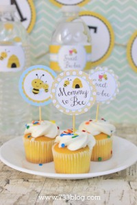 Mommy to Bee Cupcake Toppers