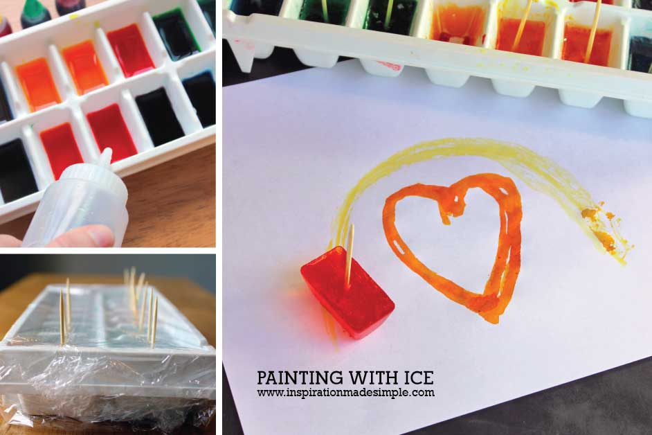 Ice Painting with Ice Cubes