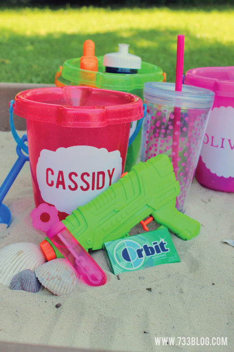 Personalized Beach Pail