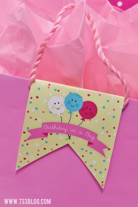 Birthday in a Bag Tag