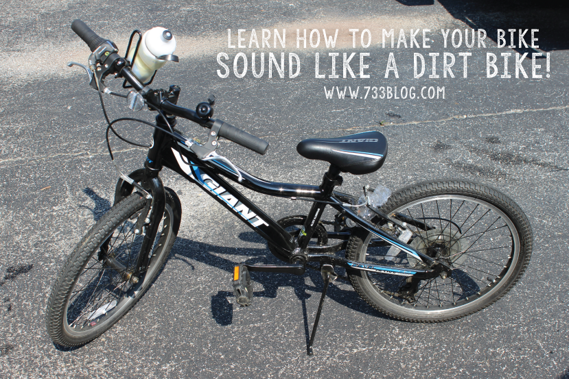 Learn how to make your bike sound like a dirt bike!