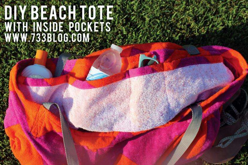DIY Beach Tote with Inside Pockets