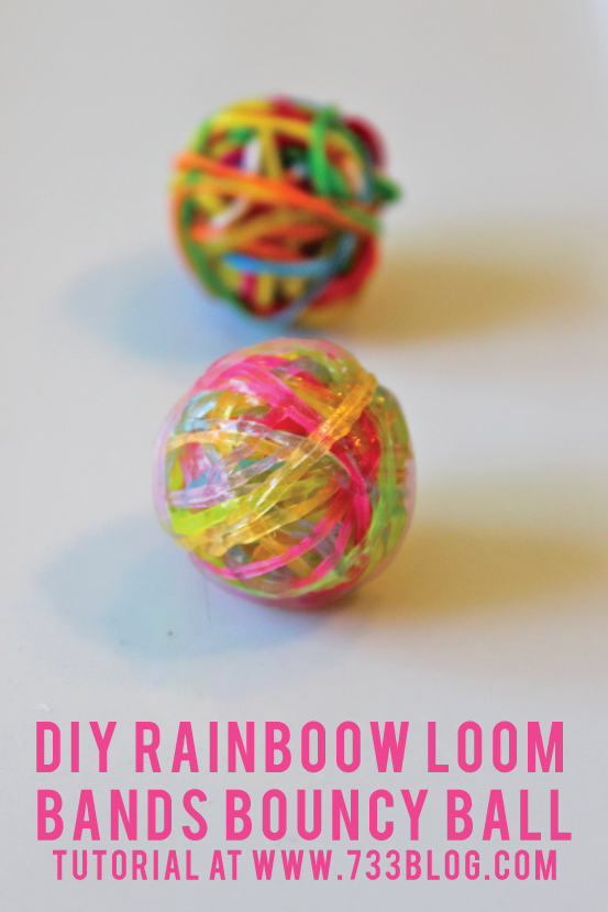 Rainbow Loom Band DIY Bouncy Ball