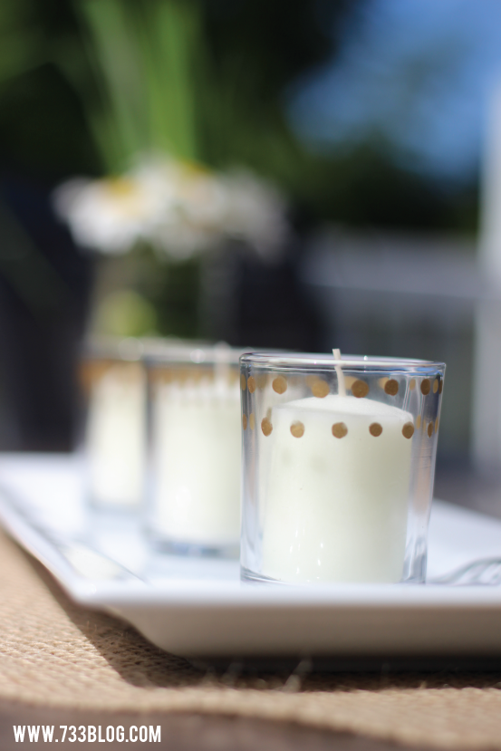 Gold Accented Votive Holders
