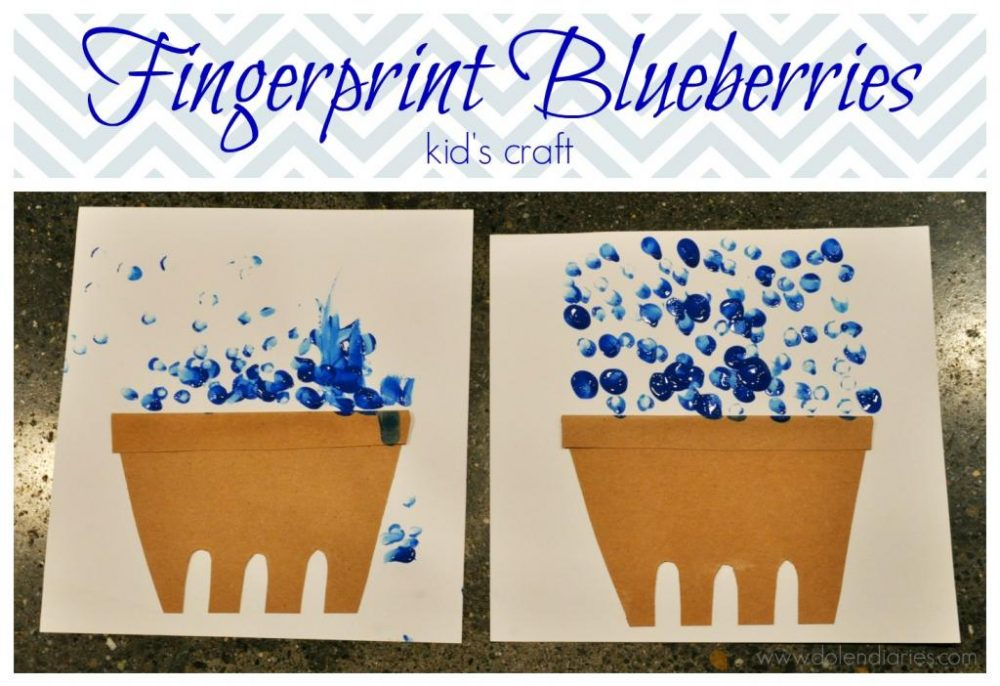 Fingerprint Blueberries Kid S Craft