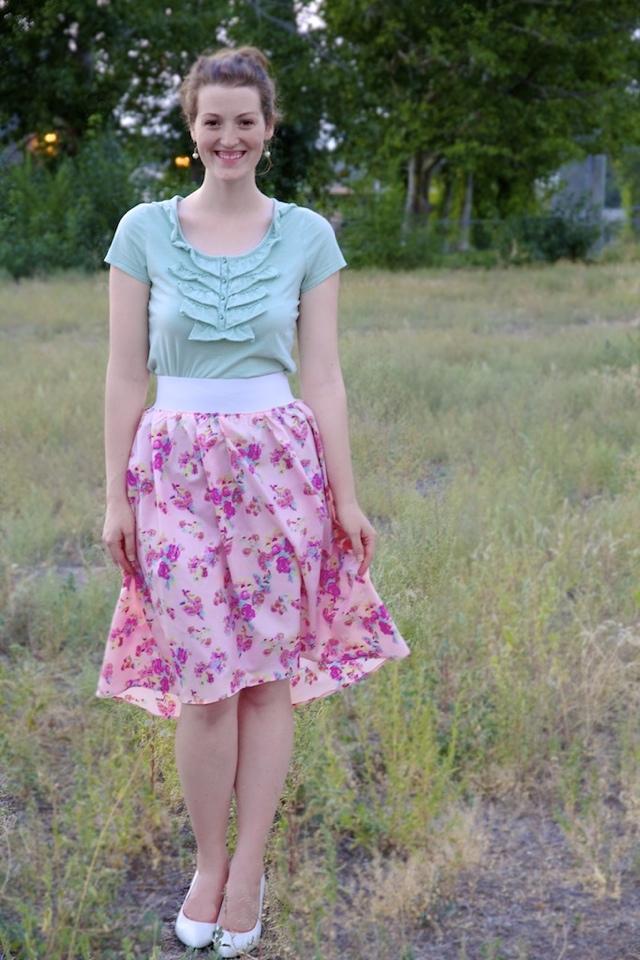 Subtle High-Low Skirt Tutorial