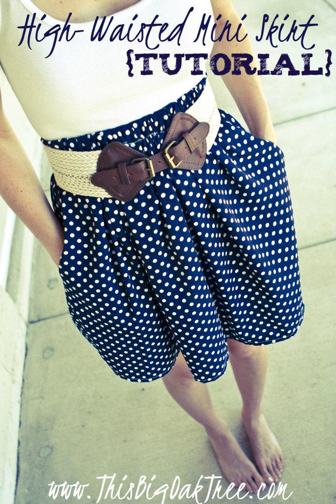 High Waisted Mini Skirt Tutorial