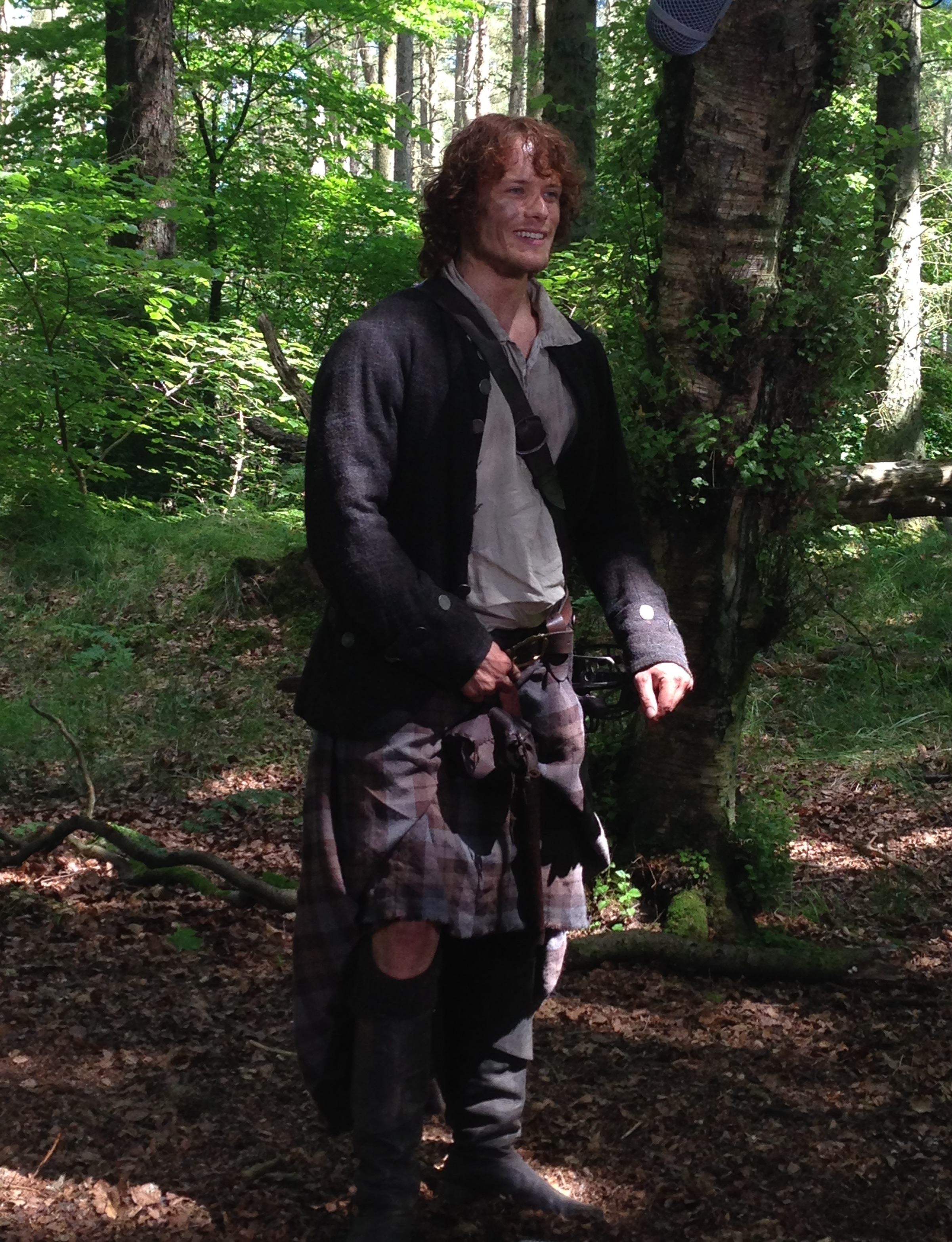 Sam Heughan as Jamie Fraser #Outlander