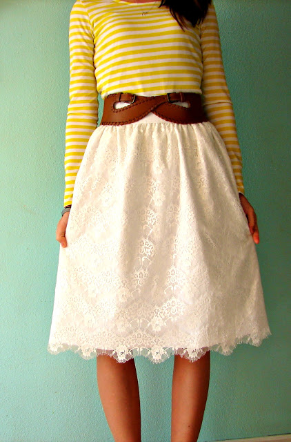 Lace Skirt Tutorial