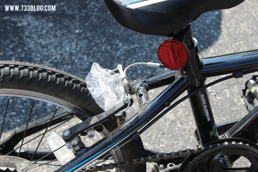 Use a water bottle to turn your bike into a roaring noise maker!