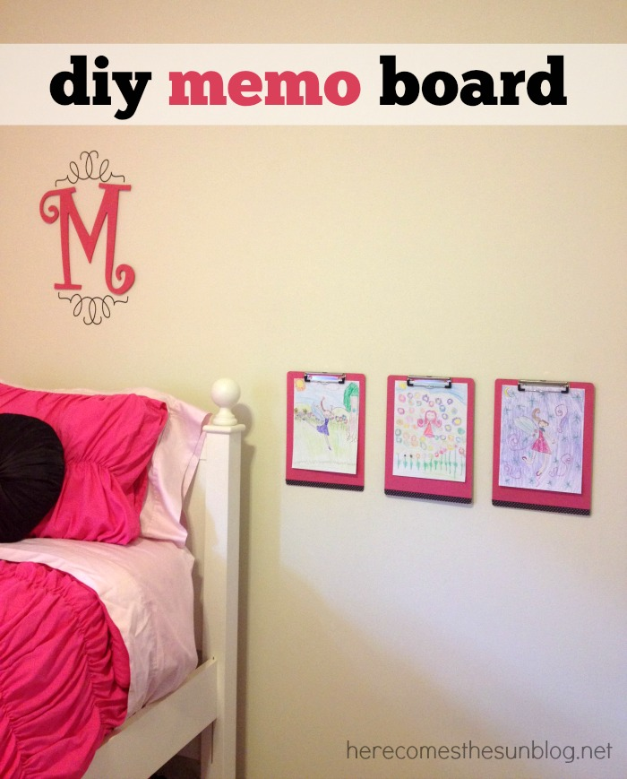DIY Memo Board Station