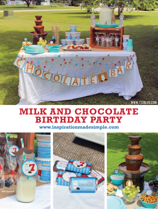Milk and Chocolate Birthday Party with Free Printable!