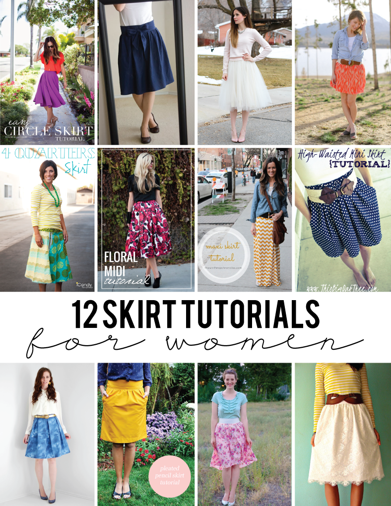 12 Skirt Tutorials for Women