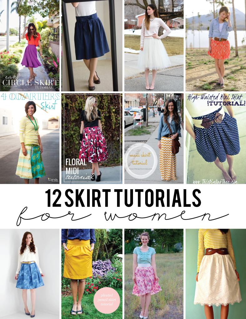 12 Skirt Tutorials for Women