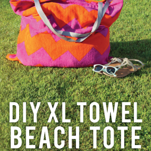 X-Large Towel Beach Bag with Pockets Tutorial