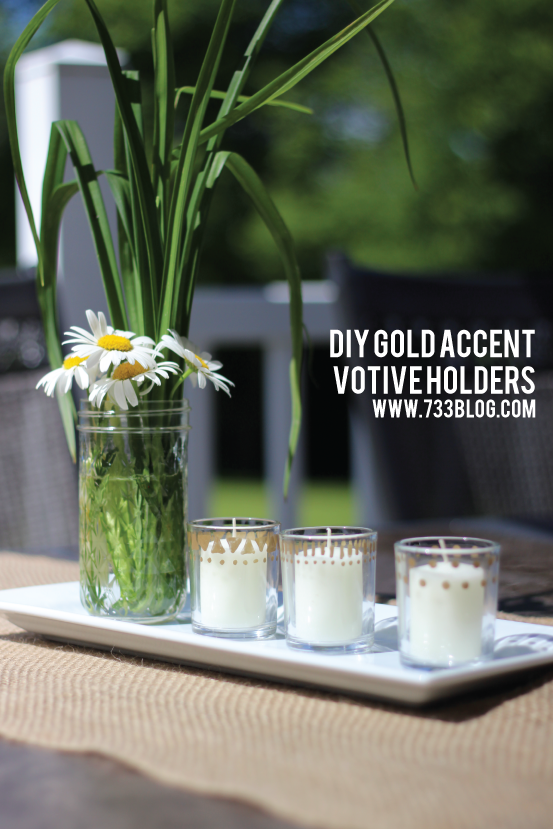Make these adorable Gold Accented Votive Holders for under $5!