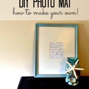 DIY Photo Mat