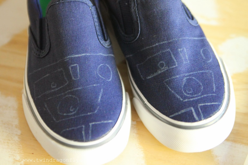 DIY Star Wars Canvas Shoes