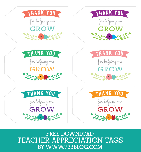 Thanks for helping me grow Gift Tag