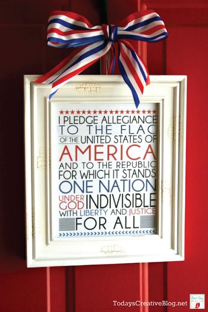 Printable Pledge of Allegiance Decor