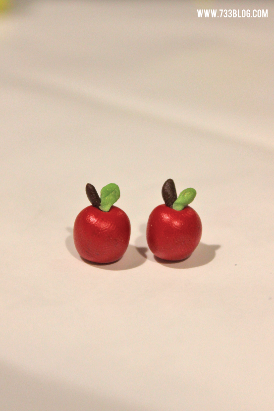 Clay Apple Earring Tutorial