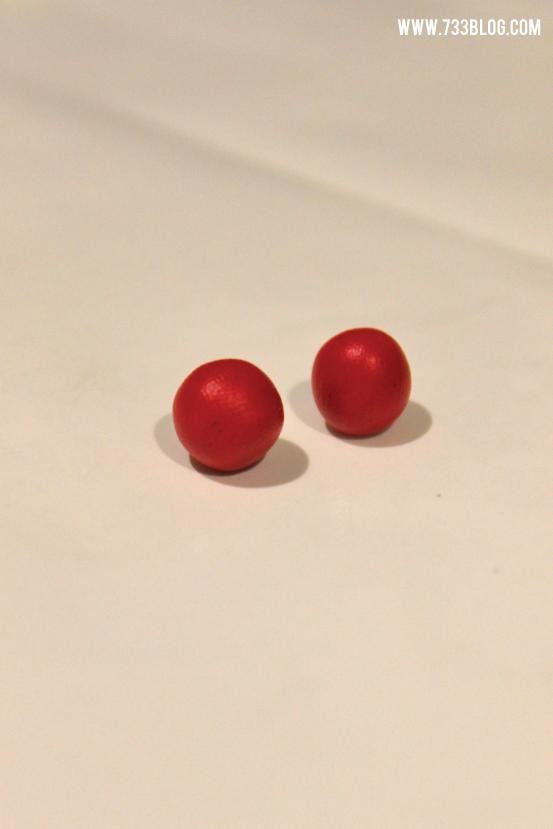 Clay Apple Earrings