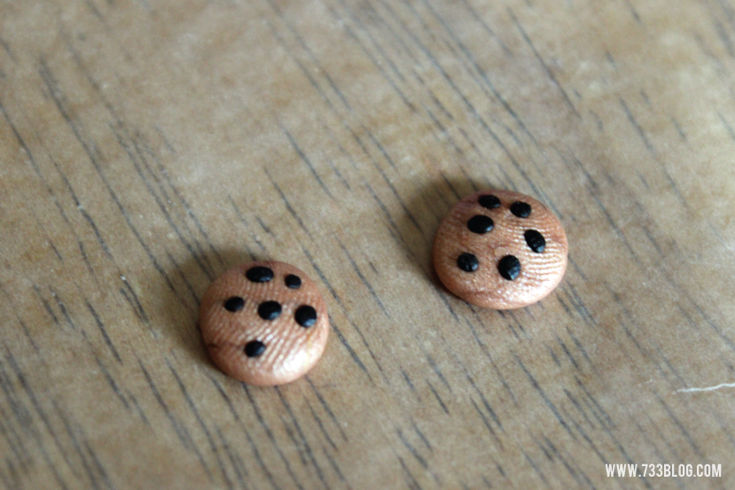 How to make Chocolate Chip Cookie Earrings