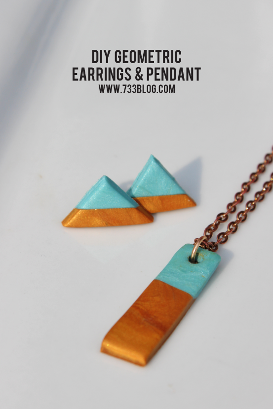 Clay Geometric Earring and Necklace Set