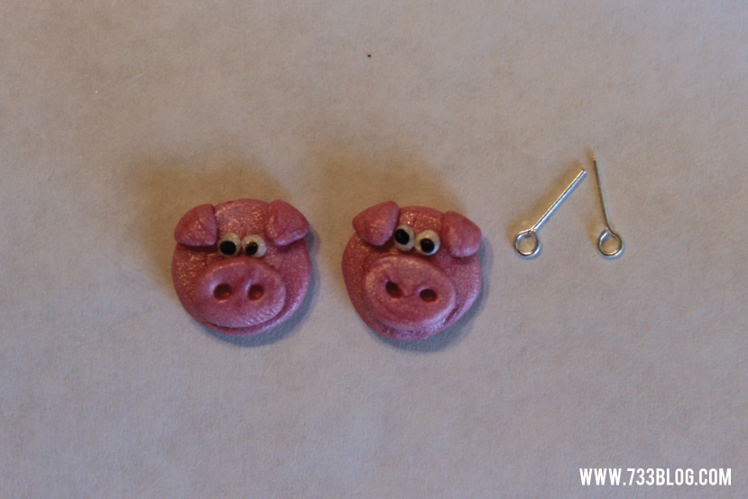 Clay Pig Earrings Tutorial