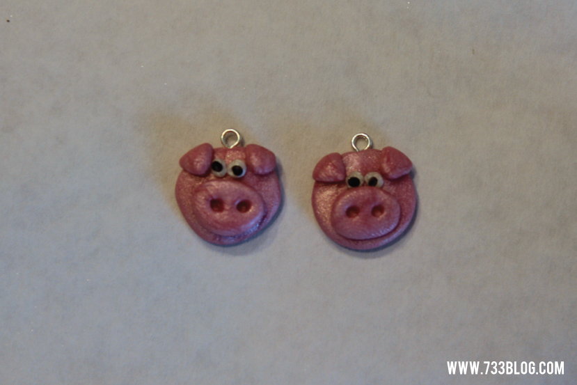 Clay Pig Earring Tutorial