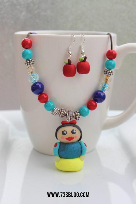 DIY Snow White Jewelry Set