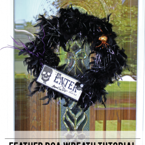 DIY Feather Boa Wreath Tutorial