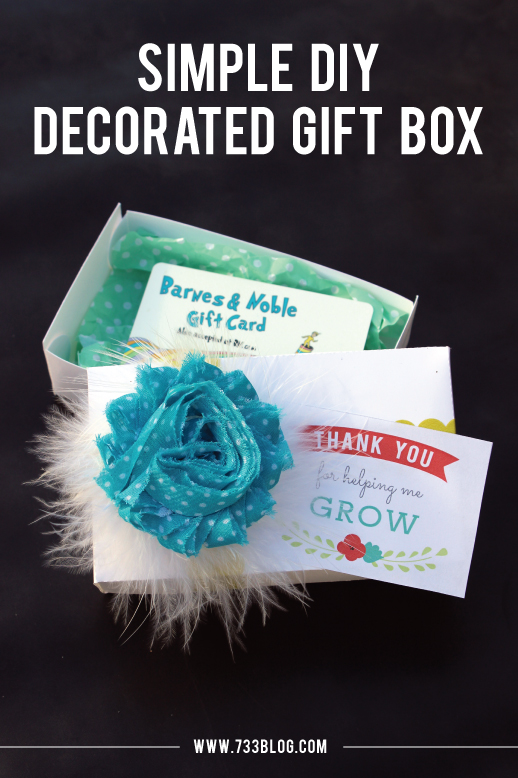 Flower Decorated DIY Gift Box