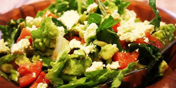 Garden Salad with Feta and Mint