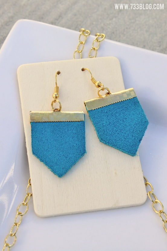 DIY Geometric Leather Earrings #cricutdesignteam14 #rockthatcricut