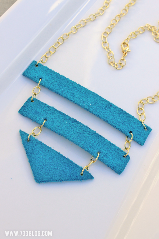 DIY Geometric Leather Necklace #cricutdesignteam14 #rockthatcricut