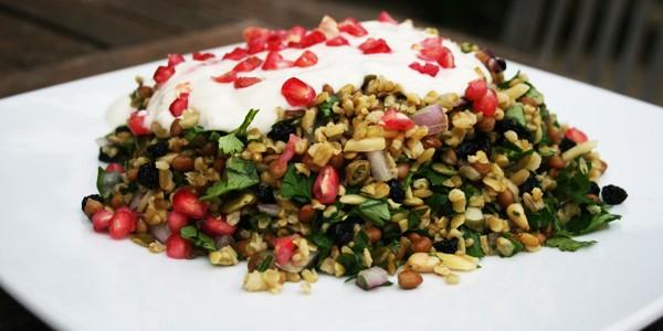 Grain Salad with Yogurt Dressing