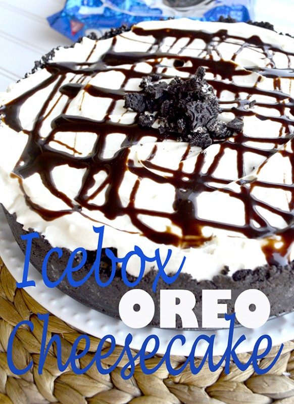 Icebox Oreo Cheesecake Recipe - NO BAKE!
