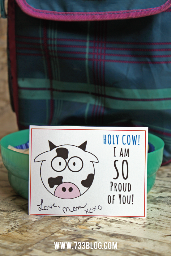 Free Printable Lunch Cards