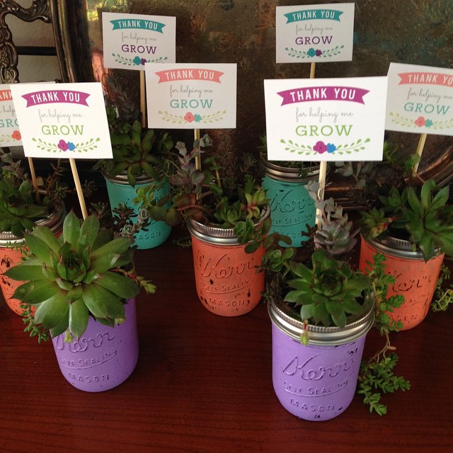 Teacher Plant Gift Idea with Free Printable Tag