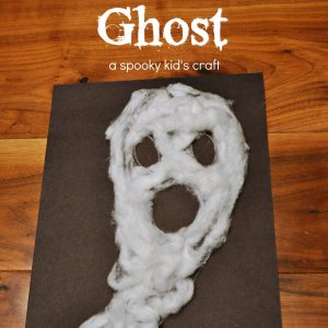 Cotton Ball Ghost Halloween Kid's Craft