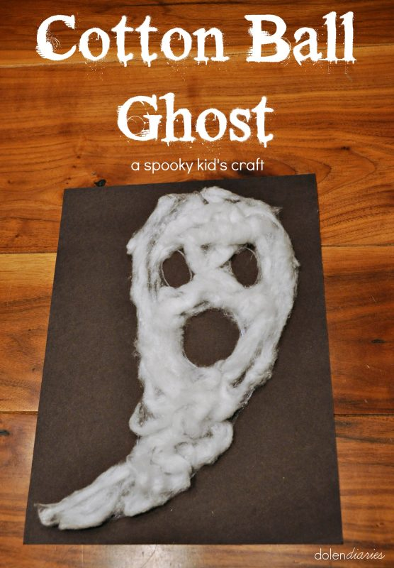 Cotton Ball Ghost A Spooky Halloween Kid's Craft {Dolen Diaries for 733 Blog}